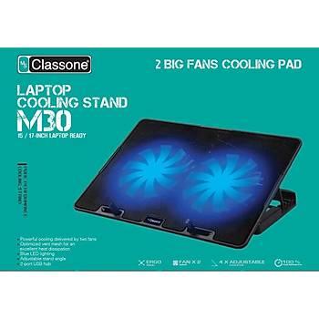 CLASSONE M30 Gaming Mavi Led Notebook Soðutucu,14-17 inch, 2 Fan
