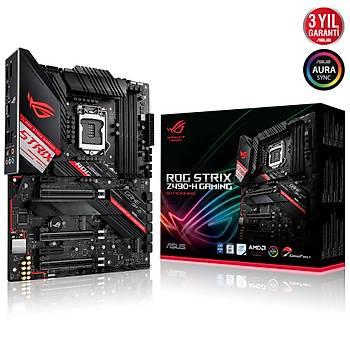 ASUS ROG STRIX Z490-H GAMING Intel Z490 LGA1200 DDR4 4600 Çift M2 USB3.2 2.5Gbit LAN ATX 128GB?a kadar ram desteði