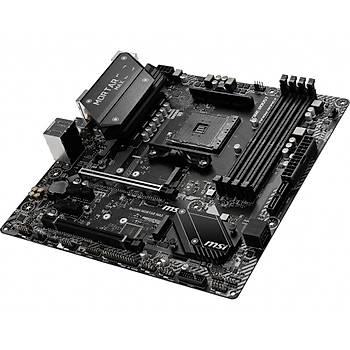 Msi B450M Mortar Max AM4 DDR4 3466 (OC) HDMI DP 2x M.2 USB3.2 mATX Anakart