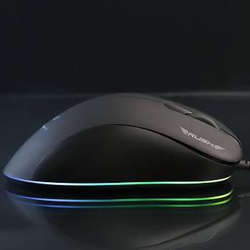 Rush ARCHER RM48 12.800 DPI RGB Iþýklý Makro Oyuncu Gaming Mouse