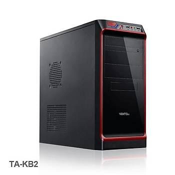 Vento TA-KB2 600W Mid Tower Kasa Siyah-Kýrmýzý