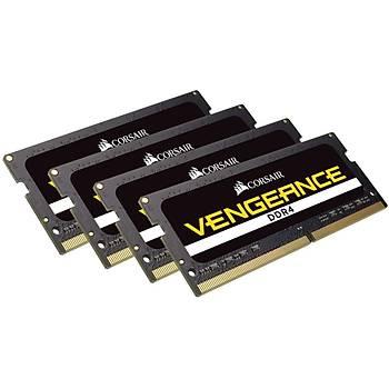 CORSAIR CMSX64GX4M4A2666C18 GB (4X16GB) DDR4 2666MHz CL18 VENGEANCE SIYAH NOTEBOOK SODIMM BELLEK