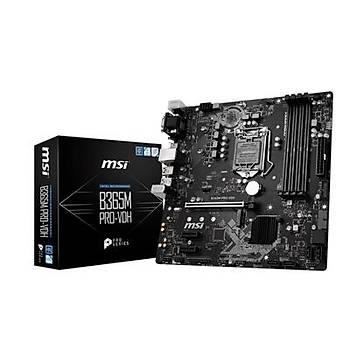 MSI B365M PRO-VDH SOKET 1151 DDR4 2666 DVI VGA HDMI M.2 USB3.1 mATX WIN7 WIN10