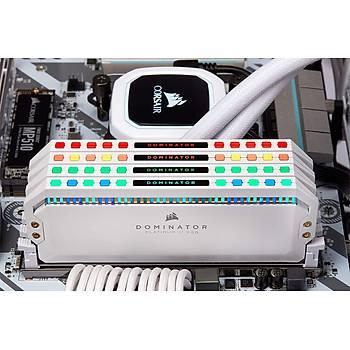 CORSAIR CMT16GX4M2C3600C18W 16GB (2X8GB) DDR4 3600MHz CL18 DOMINATOR PLATINUM RGB SOÐUTUCULU SIYAH DIMM BELLEK