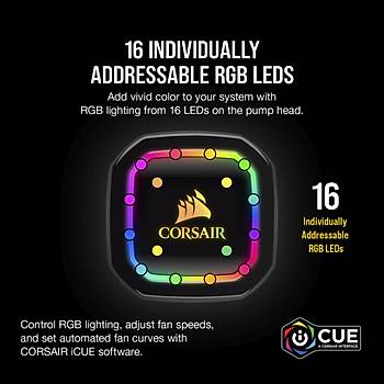 CORSAIR CW-9060043-WW ICUE H100I RGB PRO XT 240 MM SIVI ISLEMCI SOGUTUCU (INTEL 1200 1150 1151 1155 1156 1366 2011 2066 / AMD AM4 AM