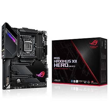 Asus Rog Maximus XII Hero Intel Z490 LGA1200 DDR4 4800 HDMI 3 X M2 USB3.2 AX WÝFÝ + BT AURA RGB 10GBÝT + 2.5GBÝT Lan Atx Anakart