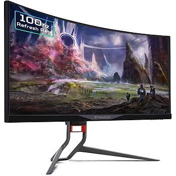 Acer Predator 34 X34PBMIPHZX Led 3440x1440 4K 4MS 120HZ G-Sync 100M:1 300 Nits (HDMI, DP) MM Çerçevesiz Curved Gaming Siyah Monitör