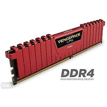 CORSAIR CMK8GX4M1A2400C16R 8GB DDR4 2400MHz CL16 VENGEANCE RED LPX SOÐUTUCULU DIMM BELLEK