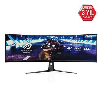 49 ASUS ROG STRIX XG49VQ GAMING VAKAVISLI AURA RGB FREESYNC 2 HDRDFHD 3840X1080 1MS 144HZ 3YIL HDMI x2DP USB3.0x2 MM VESA ULTRA-WIDE HDR DUSUK MAVI ISIK