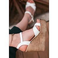 LORÝNSER  Babin Poli Taban Beyaz Cilt Dolgu Topuk Sandalet