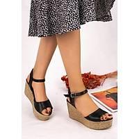 LORÝNSER  Olivie Siyah  Cilt Dolgu  Topuk Sandalet