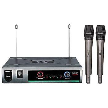 Roof R-720 2 El UHF Telsiz Mikrofon