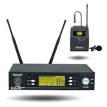 Roof R1150S Yaka Tipi Uhf Telsiz Kablosuz Mikrofon