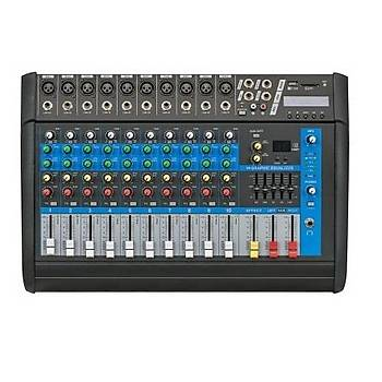 Globe Acoustic Gpm508 - 8 Kanal Power Mixer 2x250 Watt