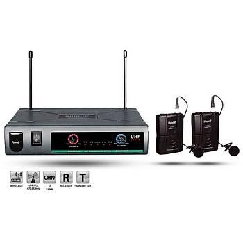 Roof R-720 YY UHF Analog Telsiz 2 Yaka Mikrofon