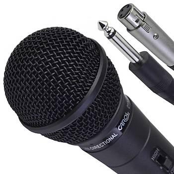 Carol Kablolu Dinamik Çift Empedans El Mikrofonu MUD-525D