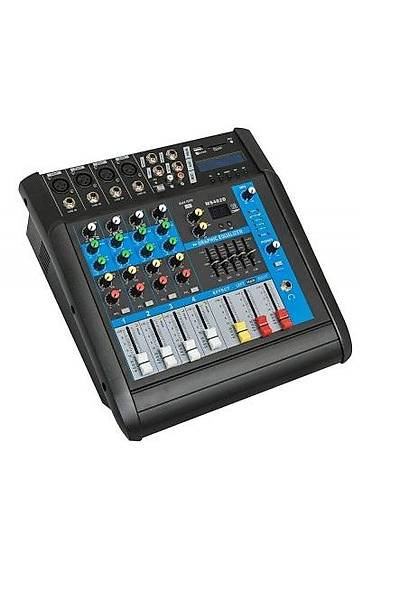 Globe Acoustic Gpm504 - 4 Kanal Power Mixer 2x250 Watt