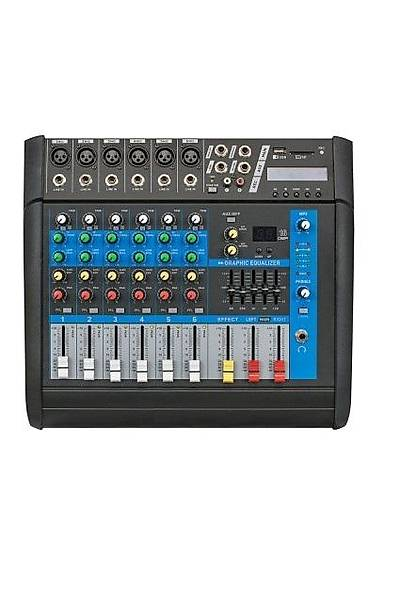 Globe Acoustic Gpm506 - 6 Kanal Power Mixer 2x250 Watt