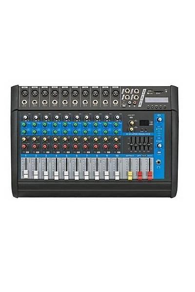 Globe Acoustic Gpm508 - 8 Kanal Power Mixer 2x250 Watt
