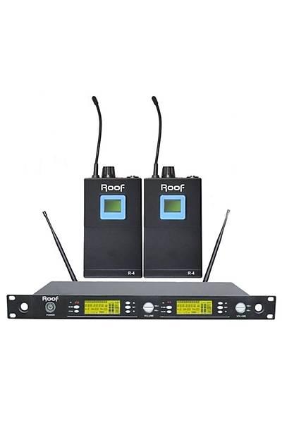 Roof R-1250S Çiftli Yaka Tipi Telsiz Kablosuz Mikrofon