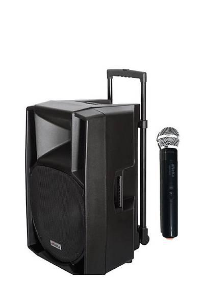 Aneka 415 WR-300E Seyyar Portatif Ses Sistemi 300 Watt /El mikrofon