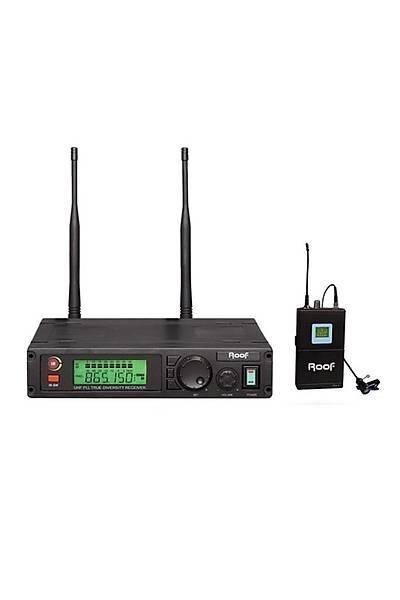 Roof R-1100 Y UHF Band Tek Kanal Kablosuz Yaka Mikrofon Seti