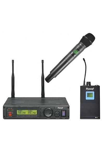 Roof R1200EY Uhf El ve Yaka Tipi Telsiz Kablosuz Mikrofon