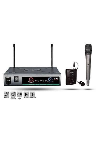 Roof R-720 EY UHF Analog Telsiz 1 El + 1 Yaka Mikrofon