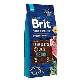 Brit Premium Sensitive Lamb Kuzu Etli Yetiþkin Köpek Mamasý 15 KG