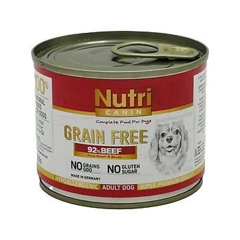 Nutri Canin Tahýlsýz Biftekli Konserve Yetiþkin Köpek Mamasý 200 Gr