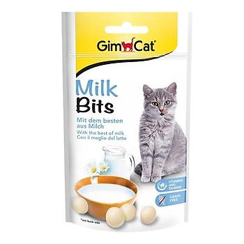 Gimcat Milk Bits Sütlü Taurinli Kedi Ödül Tableti 40 Gr