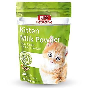 BioPetActive (yavru kedi sütü) Kitten Milk Powder 200 Gr.