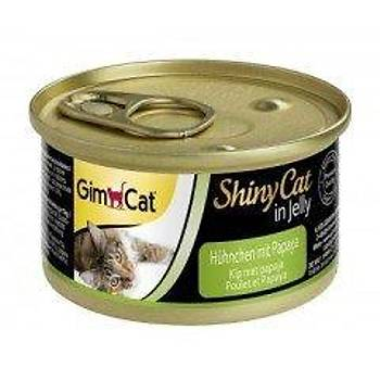 GimCat Shinycat Konserve Kedi Mamasý -Tavuklu Papayalý 70gr