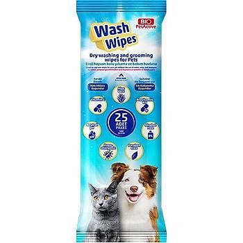 BioPetActive WASH WIPES Kuru Yýkama ve Bakým Havlusu