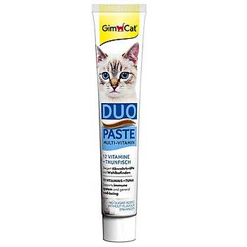 GimCat Duo Paste Ton Balýklý 12 Vitaminli Kedi Macunu 50gr
