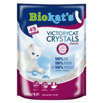 Biokats Silica Kedi Kumu VictoryCat Crystals Classic 3.6Kg-8.2Lt