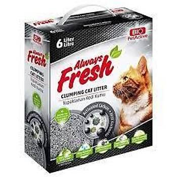 Bio Pet Active Always Fresh Active Carbon Topaklanan Kedi Kumu 6 Lt