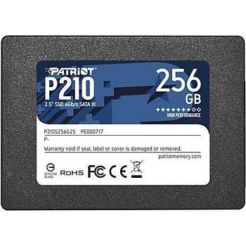 PATRIOT P210S256G25 256GB P210 Sata 3.0 500-400MB/s 7mm 2.5