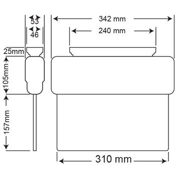 Arselite AE-1223-L Sýva Üstü Floresanlý Acil Çýkýþ Yönlendirme Armatürü Sürekli ve Kesintide 180 Dak. Yanan 500 Lümen LED