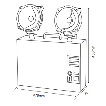 Versalite Inox VSI-2202 Acil Aydýnlatma Armatürü Kesintide 120 Dak. Yanan 2x20 Watt