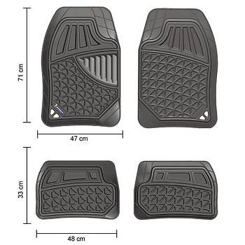 Michelin MC30145 Tüm Araçlara Uyumlu Üniversal 3D Havuzlu Oto Paspas