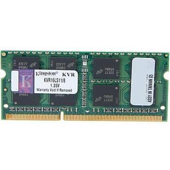 KINGSTON KVR16LS11-8 8GB 1600MHz DDR3 Notebook Ram
