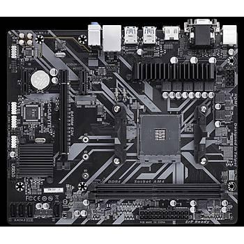 GIGABYTE B450M-S2H AMD B450M Soket AM4 DDR4 3600 MHz HDMI DVI VGA Anakart