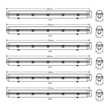 Royalite AE-81212 Acil Aydýnlatma Armatürü Sürekli ve Kesintide 120 Dak. Yanan 18 Watt