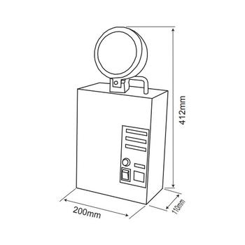 Versalite VS-1351 Tek Spot Acil Aydýnlatma Armatürü Kesintisinde 60 Dak. Yanan 35 Watt