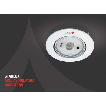 Starlux STA-101 Sýva Altý Acil Aydýnlatma Armatürü Kesintide 60 Dak. Yanan