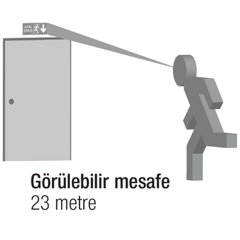Betalite AEB-3211-L Acil Çýkýþ Yönlendirme Armatürü Sürekli ve Kesintide 60 Dak. Yanan 700 Lümen