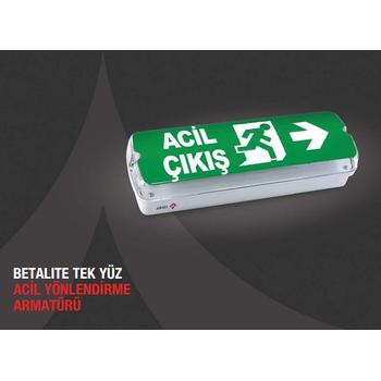Betalite AEB-03113-L Acil Çıkış Yönlendirme Armatürü Kesintide 180 Dak. Yanan 20xF LED
