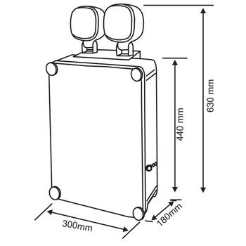 Versalite IP-65 VSP-2202 Acil Aydýnlatma Armatürü Kesintide 120 Dak. Yanan 2x20 Watt