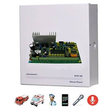 Electrosec DAP-06 6 Bölge Alarm Paneli